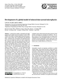 Development of a Global Model of Mineral... by Lee, Y. H.