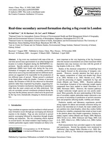 Real-time Secondary Aerosol Formation Du... by Dall'Osto, M.