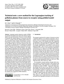Technical Note: a New Method for the Lag... by Owen, R. C.