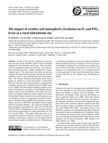 The Impact of Weather and Atmospheric Ci... by Demuzere, M.