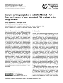 Energetic Particle Precipitation in Echa... by Baumgaertner, A. J. G.