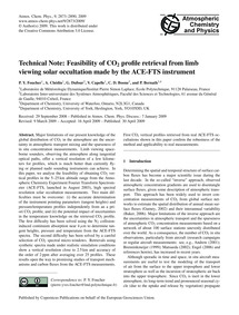 Technical Note: Feasibility of Co2 Profi... by Foucher, P. Y.