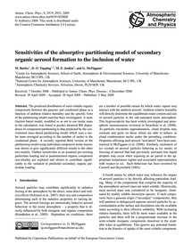 Sensitivities of the Absorptive Partitio... by Barley, M.