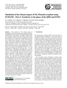Simulation of the Climate Impact of Mt. ... by Thomas, M. A.