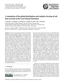 A Simulation of the Global Distribution ... by Takemura, T.