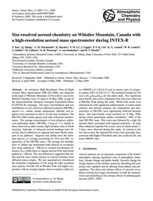 Size-resolved Aerosol Chemistry on Whist... by Sun, Y.