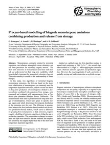 Process-based Modelling of Biogenic Mono... by Schurgers, G.