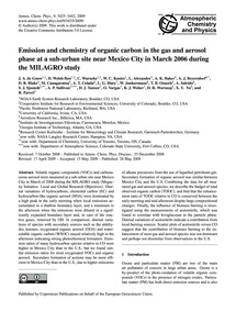 Emission and Chemistry of Organic Carbon... by De Gouw, J. A.