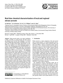 Real Time Chemical Characterization of L... by Dall'Osto, M.