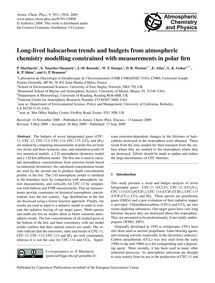 Long-lived Halocarbon Trends and Budgets... by Martinerie, P.