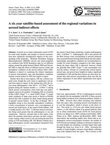 A Six Year Satellite-based Assessment of... by Jones, T. A.