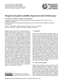 Temporal and Spatial Variability of Glyo... by Vrekoussis, M.