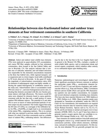 Relationships Between Size-fractionated ... by Polidori, A.