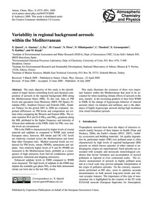 Variability in Regional Background Aeros... by Querol, X.