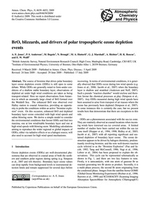 Bro, Blizzards, and Drivers of Polar Tro... by Jones, A. E.
