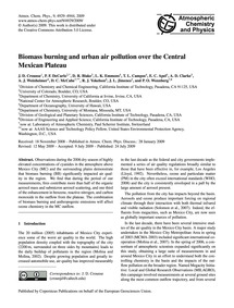 Biomass Burning and Urban Air Pollution ... by Crounse, J. D.