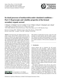 In-cloud Processes of Methacrolein Under... by Michaud, V.