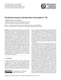 Meridional Transport and Deposition of A... by Heikkilä, U.