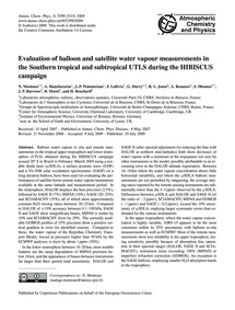 Evaluation of Balloon and Satellite Wate... by Montoux, N.