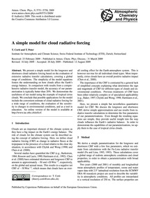 A Simple Model for Cloud Radiative Forci... by Corti, T.