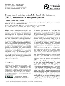 Comparison of Analytical Methods for Hum... by Baduel, C.