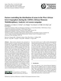 Factors Controlling the Distribution of ... by Saunois, M.