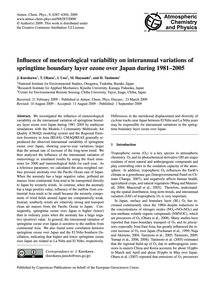 Influence of Meteorological Variability ... by Kurokawa, J.