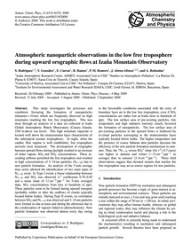 Atmospheric Nanoparticle Observations in... by Rodríguez, S.