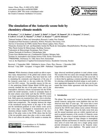 The Simulation of the Antarctic Ozone Ho... by Struthers, H.