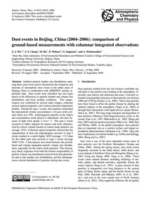 Dust Events in Beijing, China (2004–2006... by Wu, Z. J.