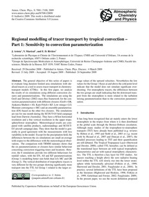 Regional Modelling of Tracer Transport b... by Arteta, J.