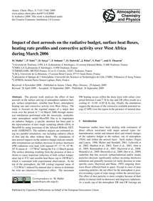 Impact of Dust Aerosols on the Radiative... by Mallet, M.