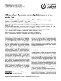 Eddy Covariance Flux Measurements of Pol... by Velasco, E.