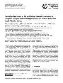 Latitudinal Variation in the Multiphase ... by Keene, W. C.