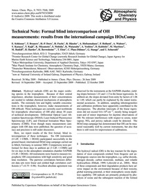 Technical Note: Formal Blind Intercompar... by Schlosser, E.