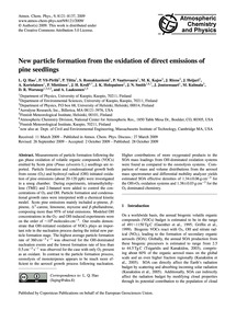 New Particle Formation from the Oxidatio... by Hao, L. Q.