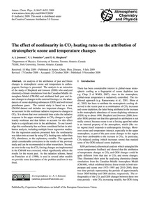 The Effect of Nonlinearity in Co2 Heatin... by Jonsson, A. I.