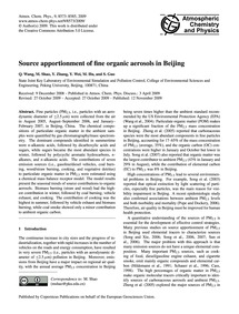 Source Apportionment of Fine Organic Aer... by Wang, Q.