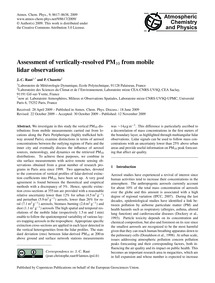 Assessment of Vertically-resolved Pm10 f... by Raut, J.-c.