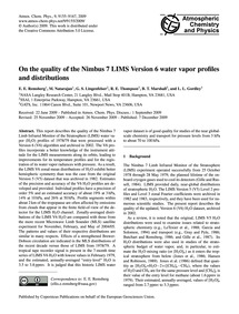 On the Quality of the Nimbus 7 Lims Vers... by Remsberg, E. E.