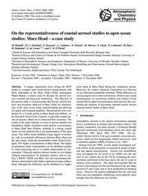 On the Representativeness of Coastal Aer... by Rinaldi, M.