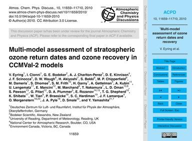 Multi-model Assessment of Stratospheric ... by Eyring, V.