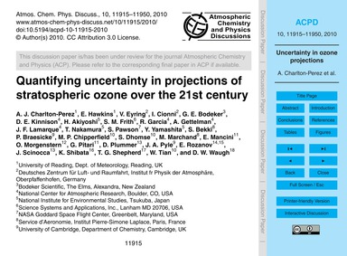 Quantifying Uncertainty in Projections o... by Charlton-perez, A. J.