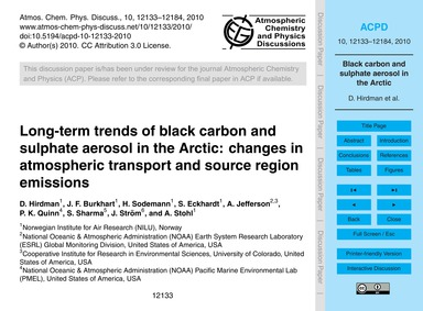 Long-term Trends of Black Carbon and Sul... by Hirdman, D.