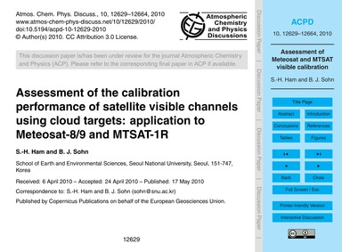 Assessment of the Calibration Performanc... by Ham, S.-h.