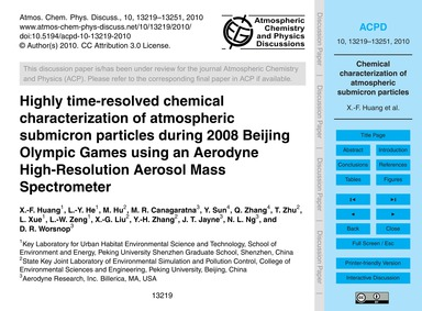 Highly Time-resolved Chemical Characteri... by Huang, X.-f.
