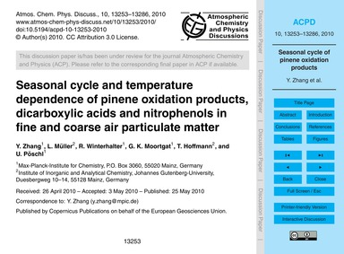 Seasonal Cycle and Temperature Dependenc... by Zhang, Y.