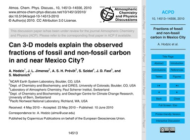 Can 3-d Models Explain the Observed Frac... by Hodzic, A.
