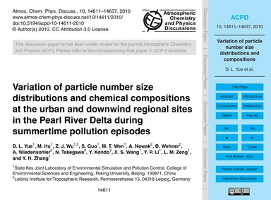 Variation of Particle Number Size Distri... by Yue, D. L.