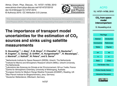 The Importance of Transport Model Uncert... by Houweling, S.